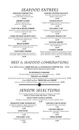 beef & seafood combinations - Don Hall's Family of Services.