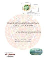 stage di massaggio inca qhaqoy sole e luna interiori - Cuneo Holiday