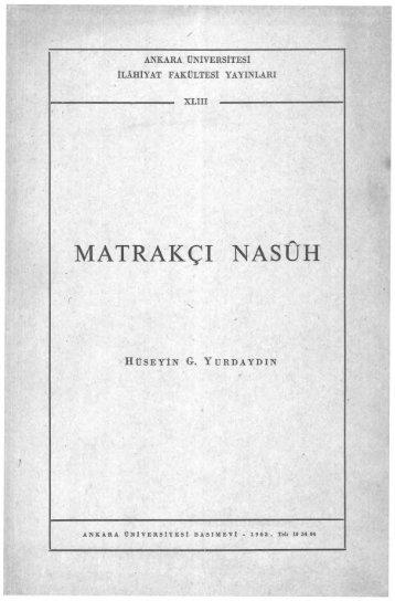 MATRAKÇI NASell - Ankara Üniversitesi Kitaplar Veritabanı
