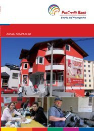 Annual Report 2008 - ProCredit Bank