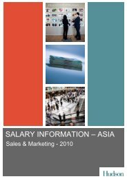 Hudson Salary Survey Asia 2009 - Sales & Marketing - CTHR.hk