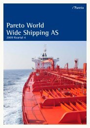 Pareto World Wide Shipping AS - Pareto Project Finance