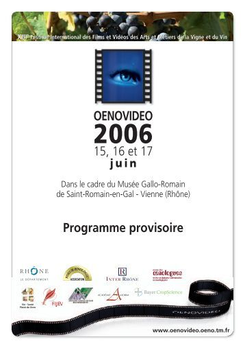 OENOVIDEO - Festival international de films sur la vigne et le vin ...