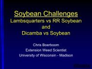 Common Lambsquarters Management with Glyphosate and Drift ...