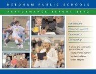 2012 Needham Public Schools Performance Report
