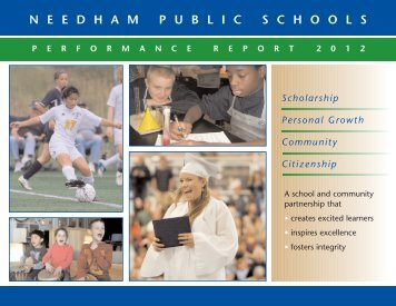2012 Needham Public Schools Performance Report