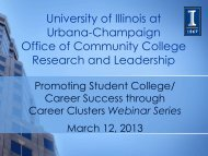 Freshman Advisory - Office of Community College Research and ...