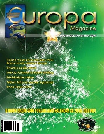 u ovom broju vam poklanjamo kalendar za 2008 ... - Europa Magazine