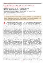 Channel Strain Measurement of Si_{1-x} - MPnano Lab, EEWS ...