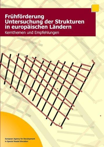 Frühförderung Untersuchung der Strukturen in europäischen ...