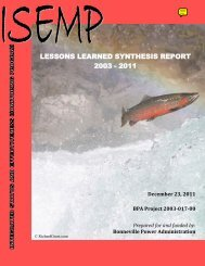 lessons learned synthesis report 2003 - 2011 - SalmonRecovery.gov