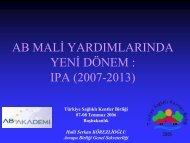 IPA (2007-2013) - Türkiye Sağlıklı Kentler Birliği