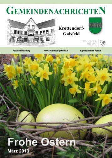Gemeindezeitung März 2013 - Gemeinde Krottendorf-Gaisfeld