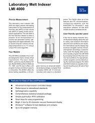 Laboratory Melt Indexer LMI 4000 - QUALITEST – WorldofTest.com