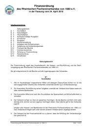 Finanzordnung Des Rheinischen Fischereiverbandes Von 1880 ...