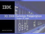 Earnings Presentation - IBM