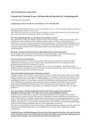 Gespräch mit Christoph Kremer, Rechtsanwalt und ... - Mabuse