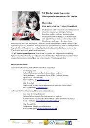 aktuelle Informationen zum Thema Depression - Tiroler Bündnis ...