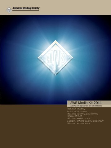 AWS Media Kit 2011 - American Welding Society