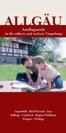 Allgäu: Ausflugsziele in die nähere und weitere Umgebung (PDF – 3 ...