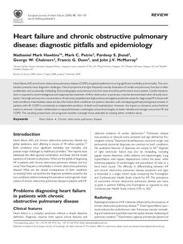 Heart failure and chronic obstructive pulmonary disease - European ...