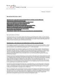Mandanteninformation I/2013 - Staib & Partner Rechtsanwälte