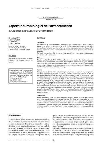 Aspetti neurobiologici dell'attaccamento