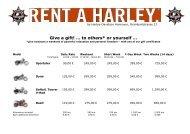 price list - Harley Davidson