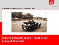 Aktuelle Entwicklung und Trends in der Automobilindustrie