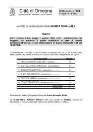 Delibera di Giunta Comunale n. 153/2012 - Comune di Omegna