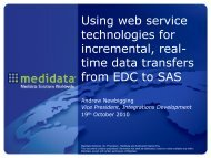 Using web service technologies for incremental, real ... - PhUSE Wiki