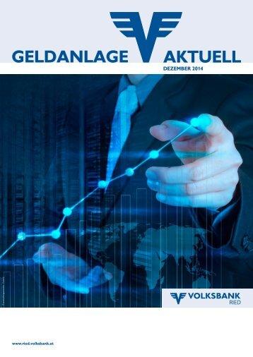AKTUELL GELDANLAGE - Volksbank Ried