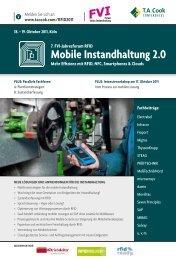 Tagungsprogramm - MFA – Maintenance and Facility Management ...