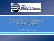 Presentation to Beloit Corporation Quarter ... - the City of Beloit