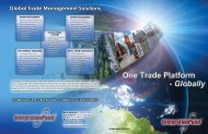 global trade management solutions CompLIANCE ... - Integration Point