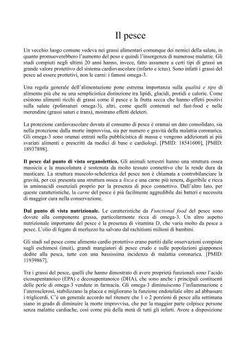 Il pesce - Dieta della salute - Dott. Fabrizio MODA
