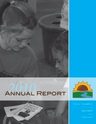 2010 KFAC Annual Report - Kansas Foundation for Agriculture in ...