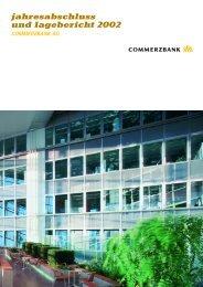 jahresabschluss und lagebericht 2002 commerzbank ag