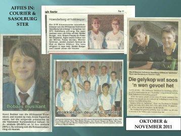 affies in: courier & sasolburg ster oktober & november 2011