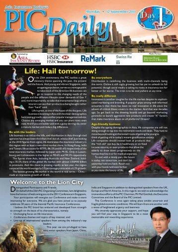 Day 1 (12 September 2011) - Life Insurance Association Singapore
