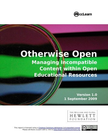 Otherwise Open - Education - Creative Commons