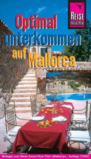 Optimal unterkommen Mallorca Optimal unterkommen ... - Reisebuch