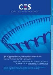 document de réflexion - Conseil economique, social et culturel