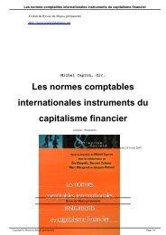 Les normes comptables internationales instruments du capitalisme ...