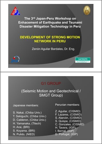 Development of Strong Motion Network in Peru
