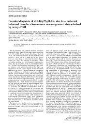 Prenatal diagnosis of del(4)(q27q31.23), due to a ... - ResearchGate