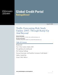 Traffic Forecasting Risk Study 2005: Through Ramp-Up and Beyond