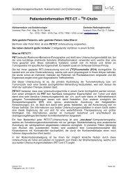 Patienteninformation PET-CT – F-Cholin