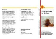 Informationen zu Zecken - Schule Schöftland