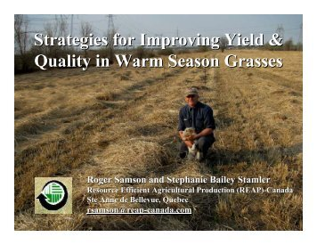 34 Strategies for Improving Yield & Quality in Warm Season Grasses ...